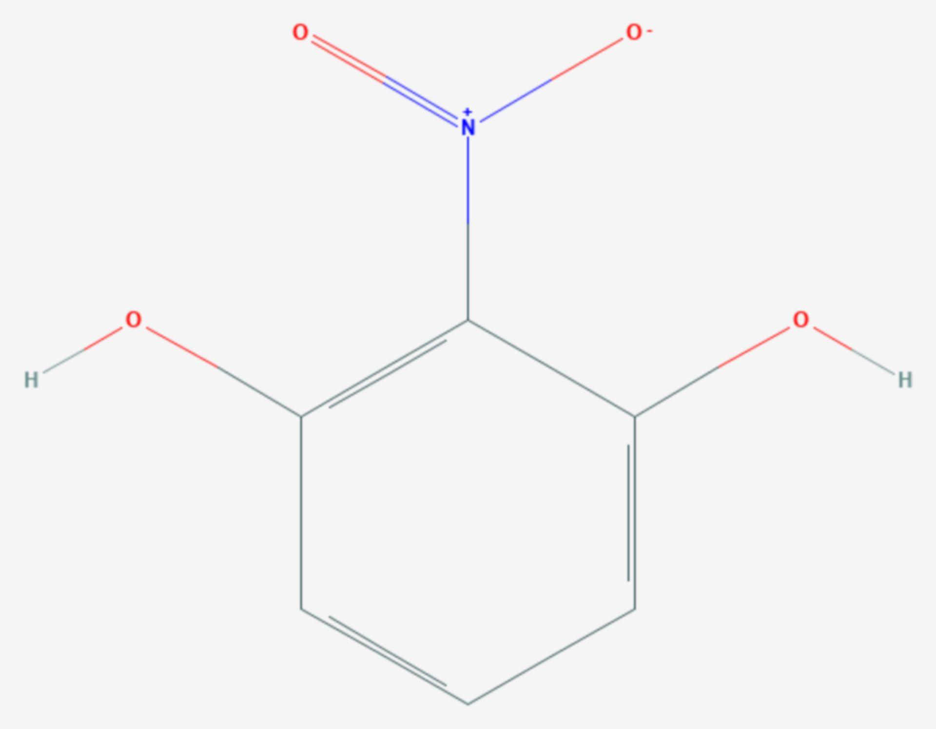 2-Nitroresorcin (Strukturformel)