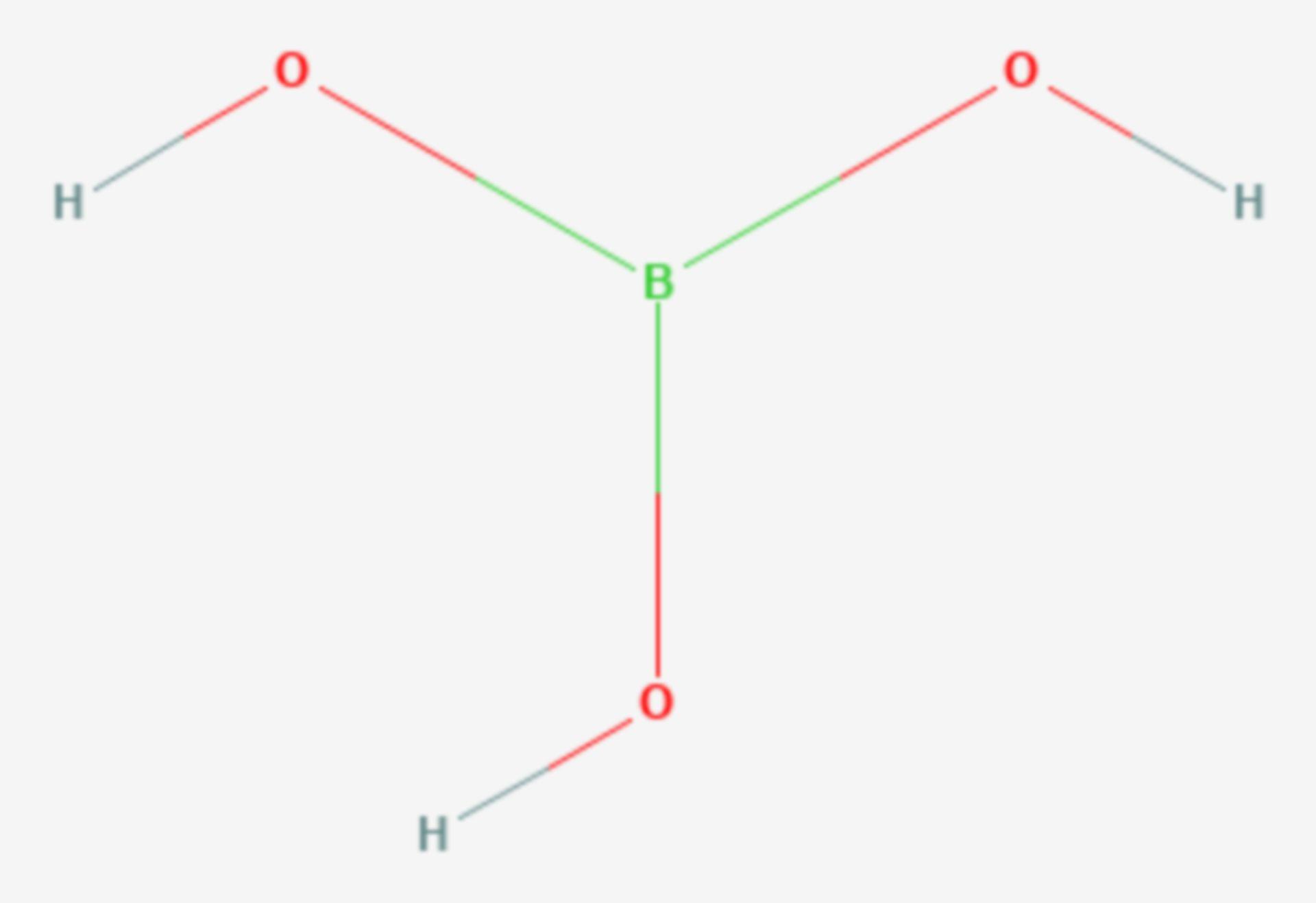 Borsäure (Strukturformel)
