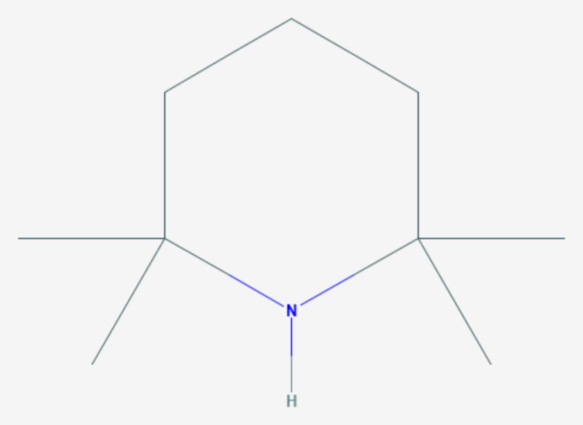 2,2,6,6-Tetramethylpiperidin (Strukturformel)