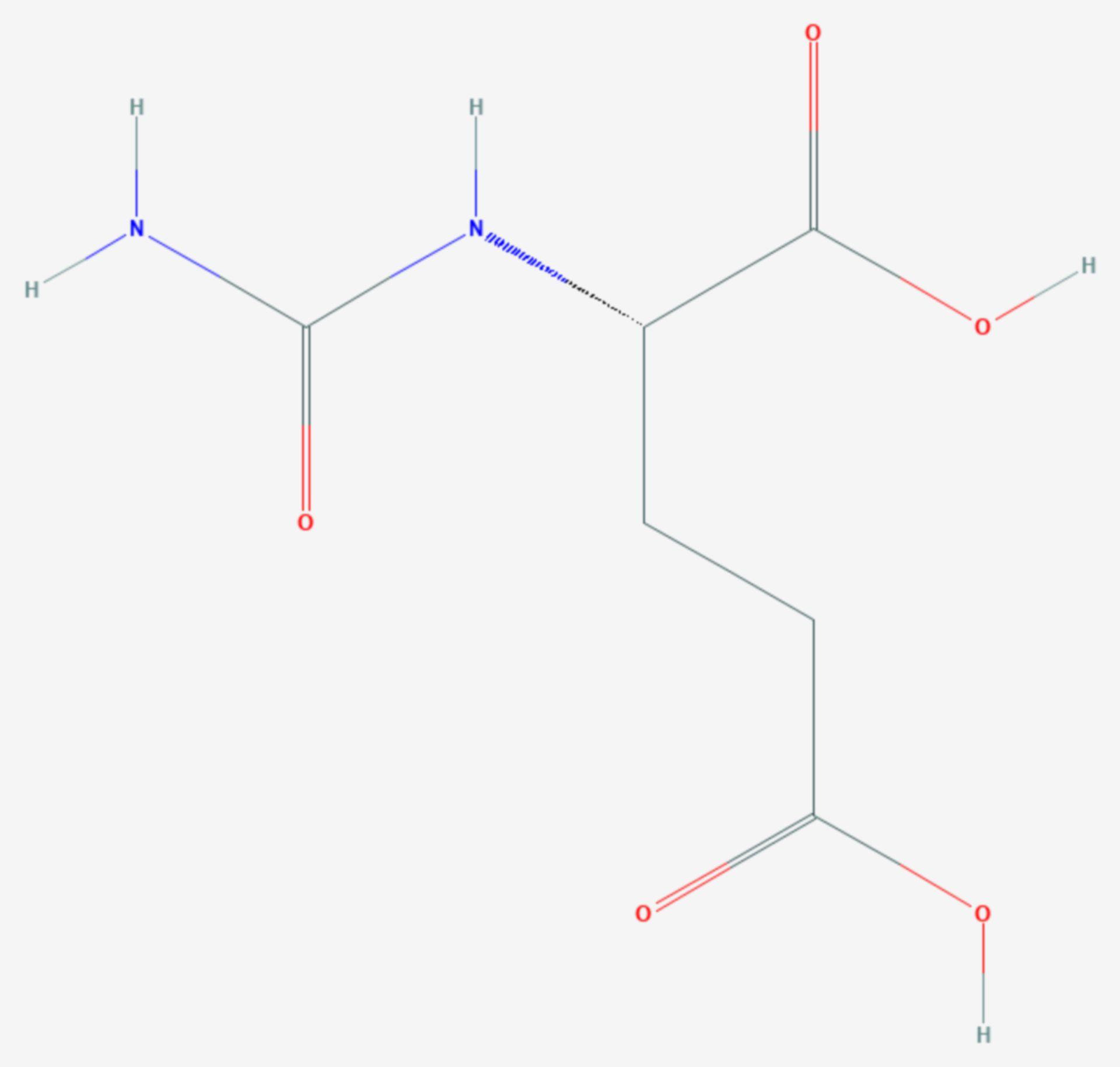 Carglumsäure (Strukturformel)