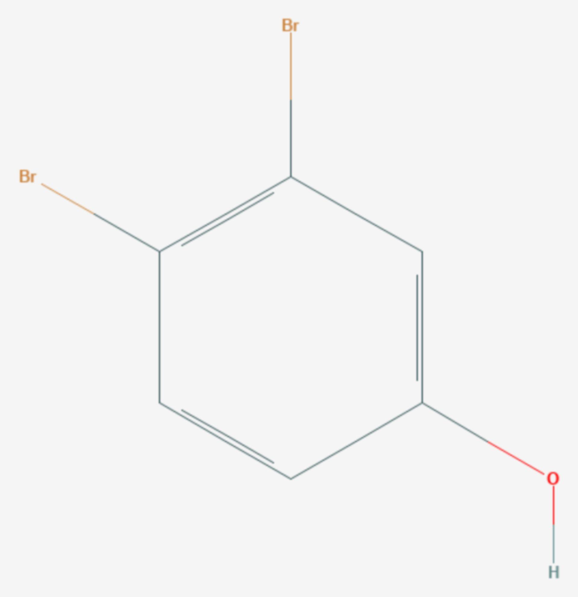 3,4-Dibromphenol (Strukturformel)