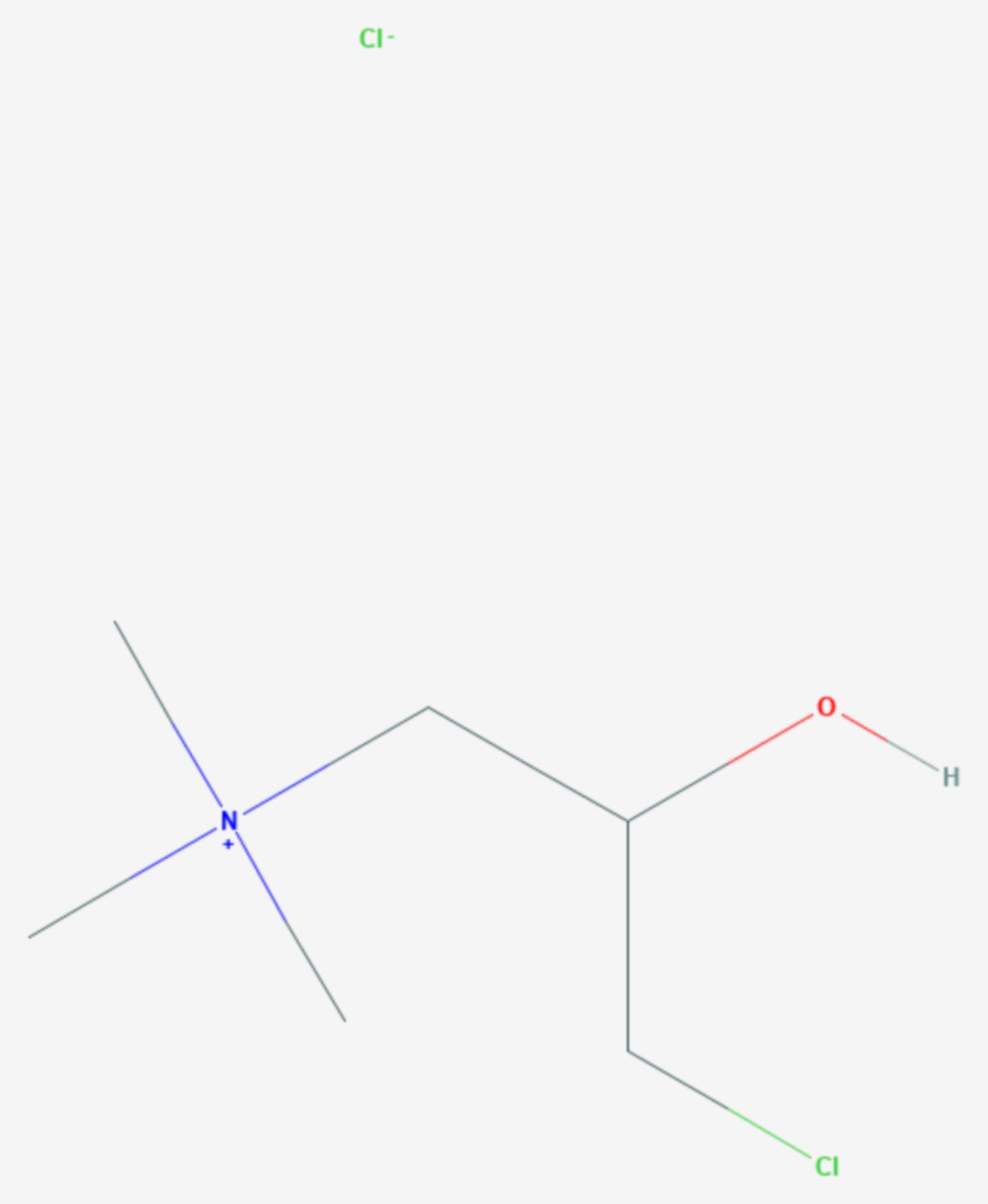 3-Chlor-2-hydroxypropyl-N,N,N-trimethylammoniumchlorid (Strukturformel)