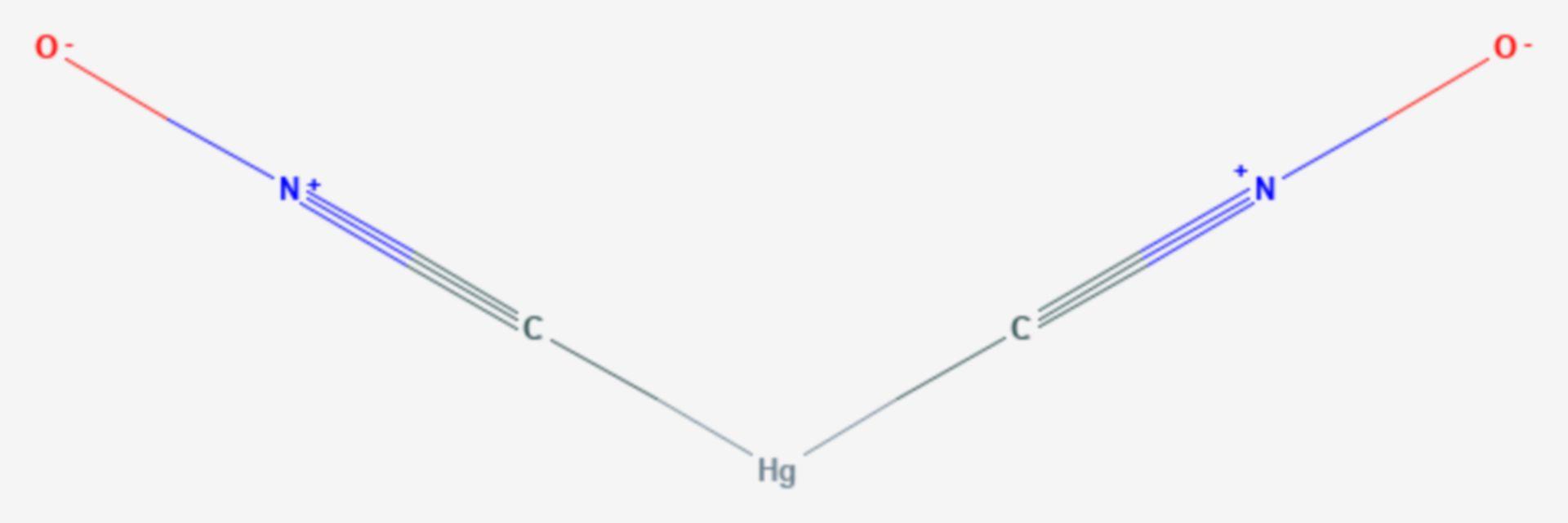 Knallquecksilber (Strukturformel)