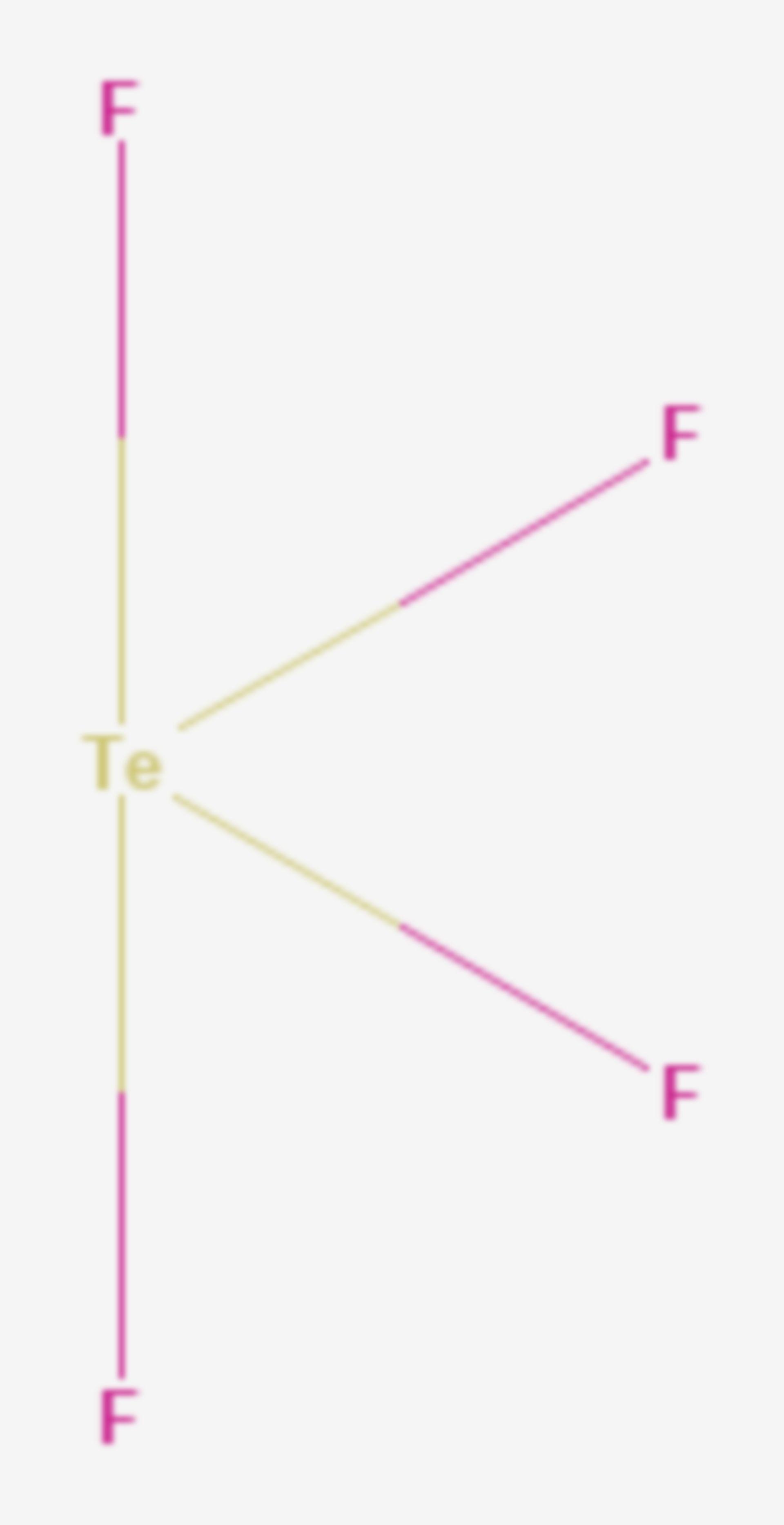 Tellurtetrafluorid (Strukturformel)