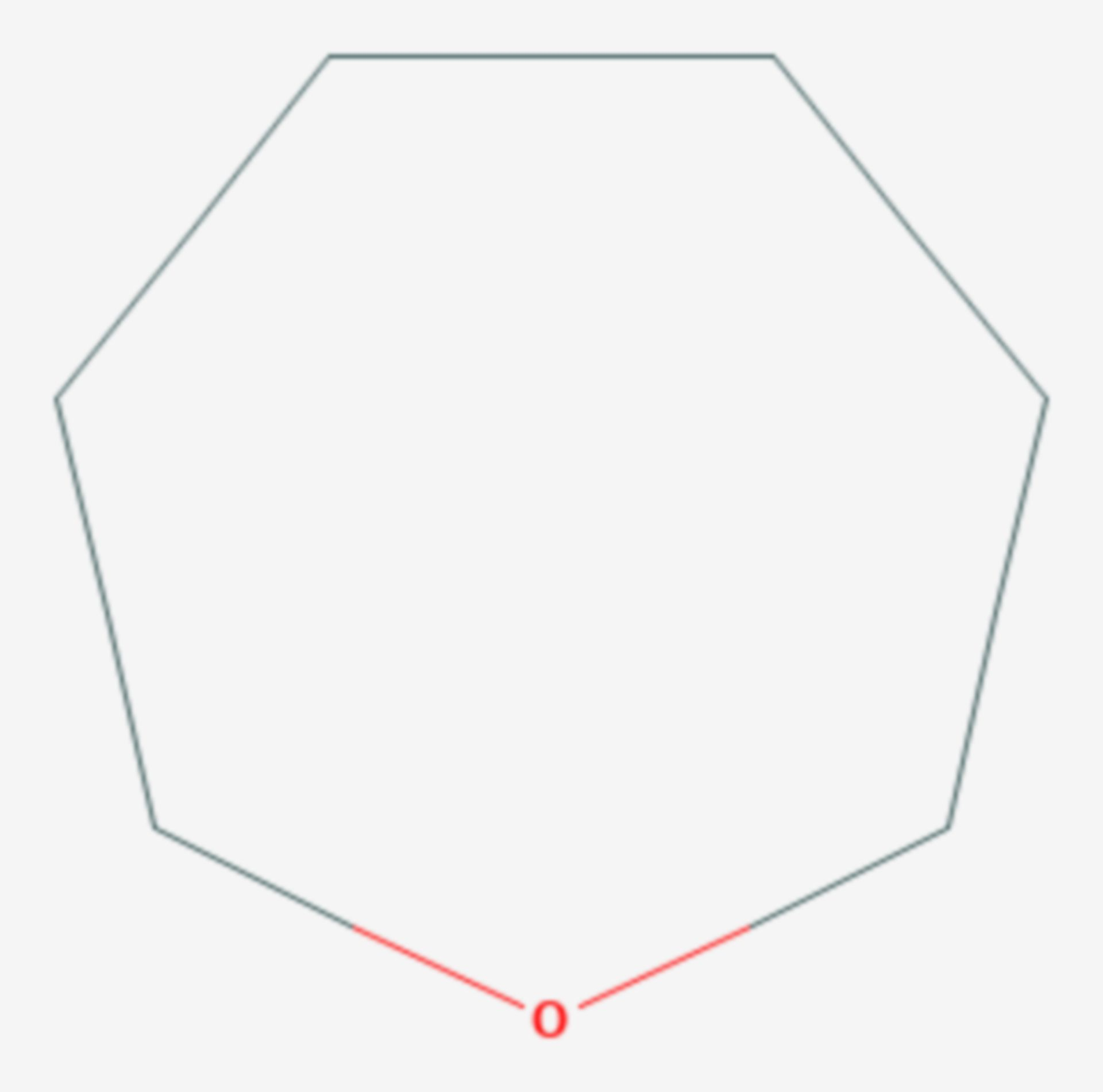Oxepan (Strukturformel)