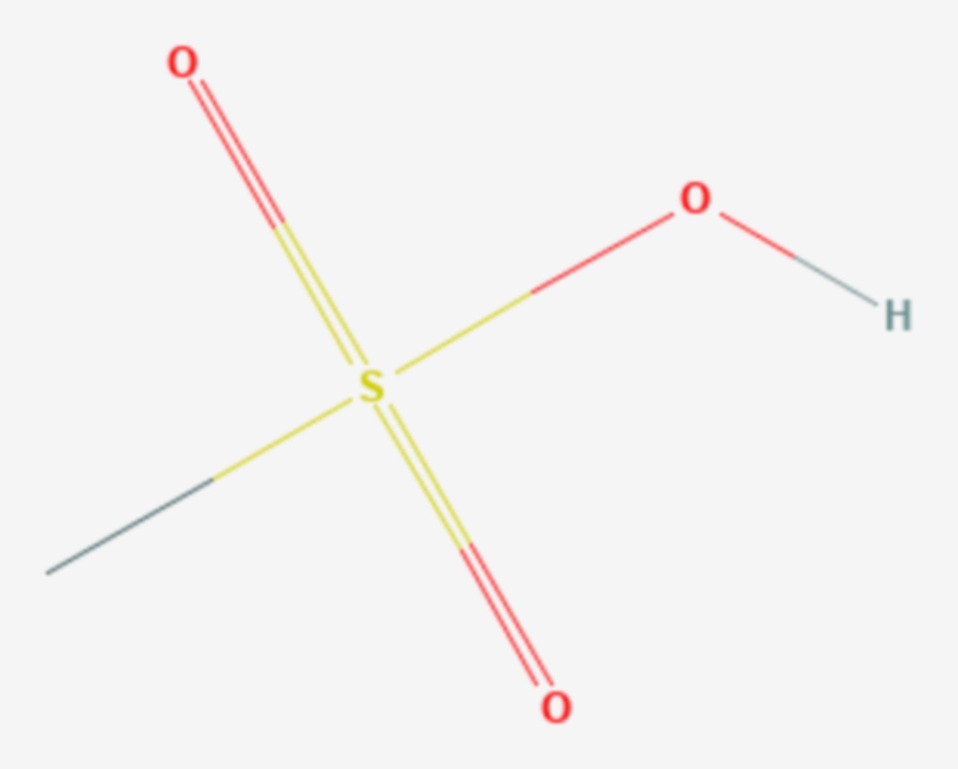 Methansulfonsäure (Strukturformel)