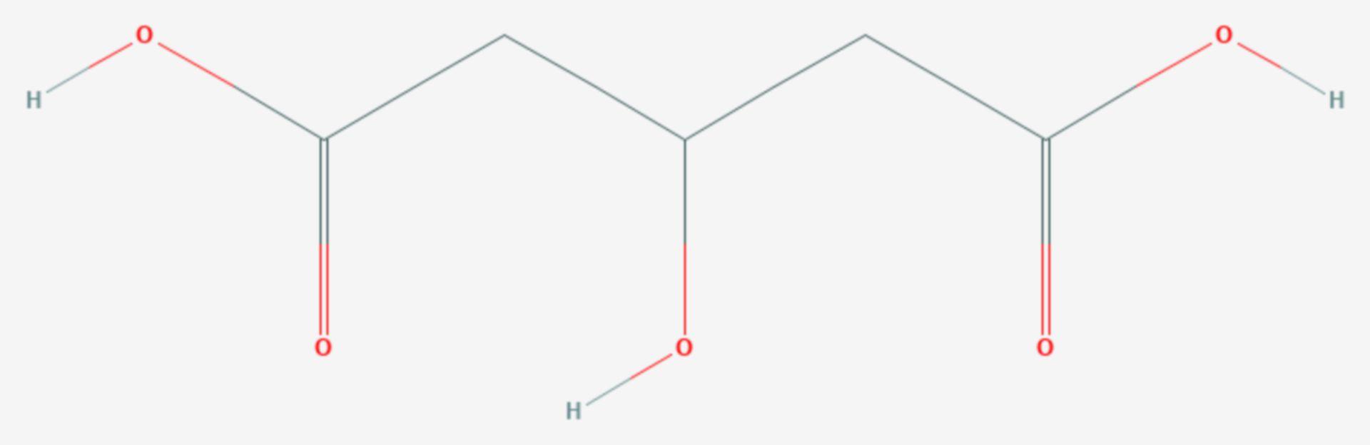 3-Hydroxyglutarsäure (Strukturformel)