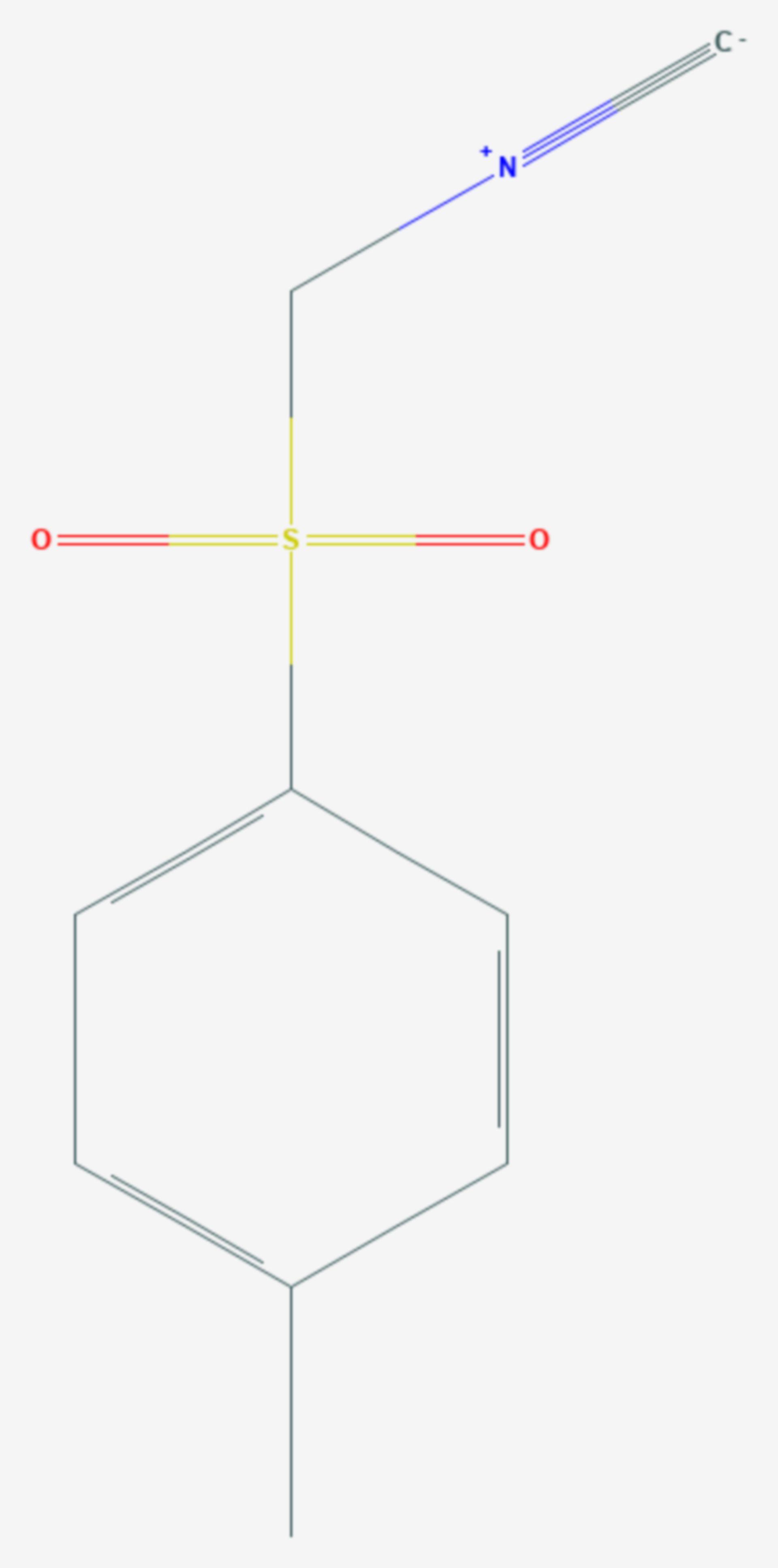 Tosylmethylisocyanid (Strukturformel)