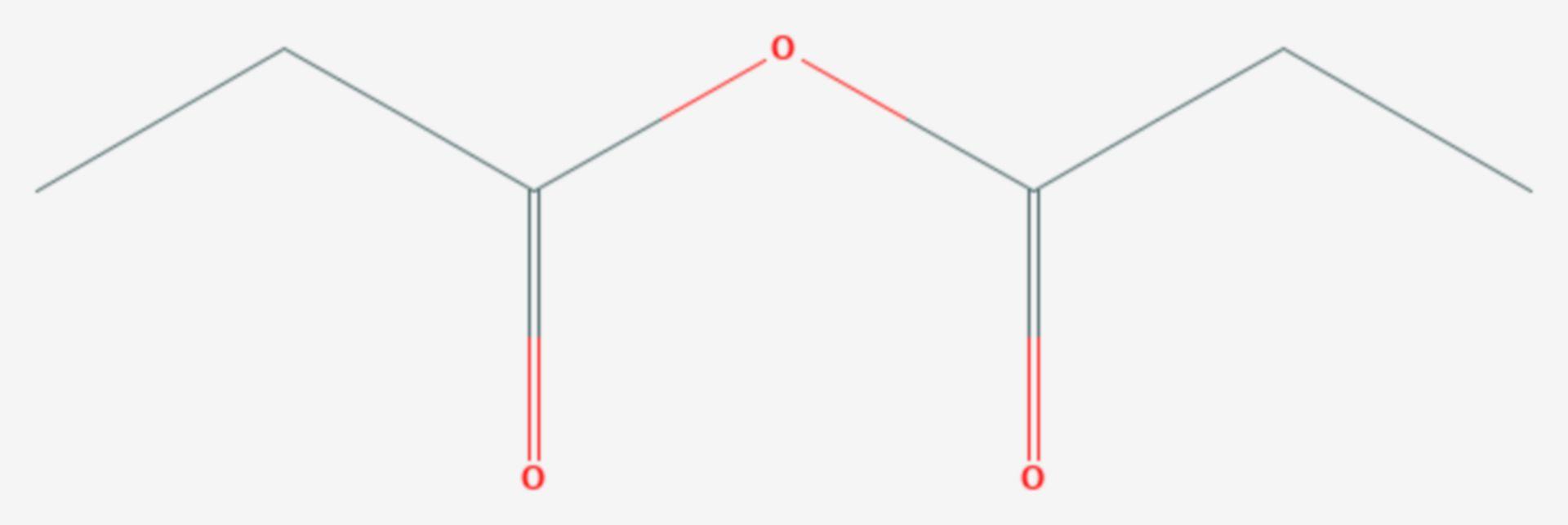 Propionsäureanhydrid (Strukturformel)