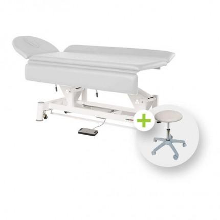 Table de traitement avec parties latérales réglables