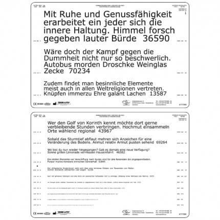 Planche pour lecture de près Birkhäuser