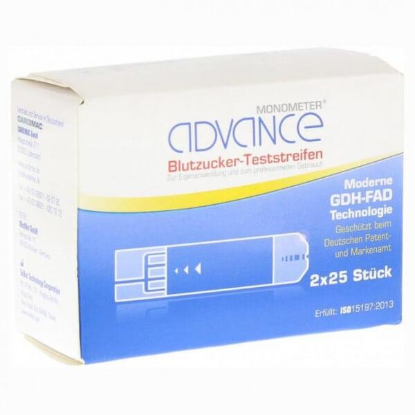 Advance Monometer Blutzucker Teststreifen