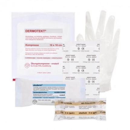 Übungsset Erste Hilfe mit Handschuhen