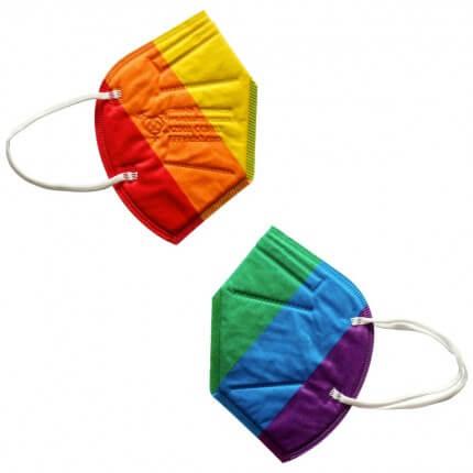 Offizielle Regenbogen FFP2-Maske
