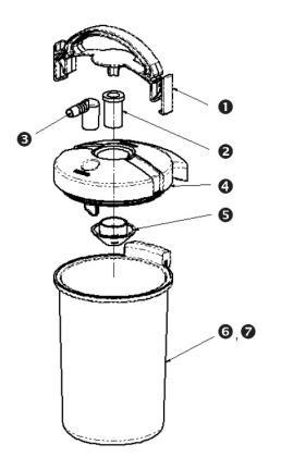 DDS-Bakterienfilter, Einmalgebrauch, zu Atmos C 361/41