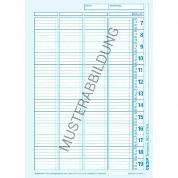 Einlegeblätter für MED SYSTEM Terminiplaner