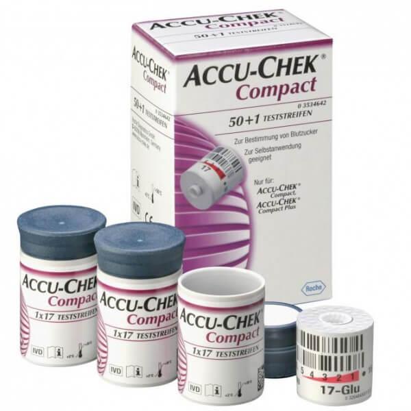 Accu-Chek Compact Glucose Teststreifen
