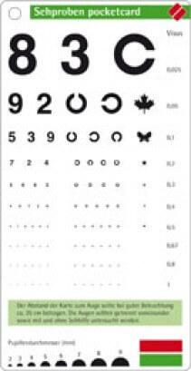 Test visuel pocketcard