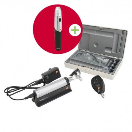 HEINE BETA 400 LED F.O. Otoskop und BETA 200 LED Ophthalmoskop im Set