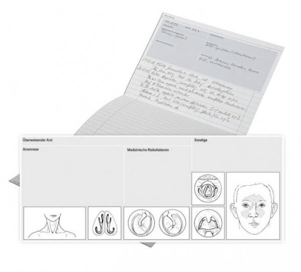 Karteimappe MAXIMA für HNO, gefalzt