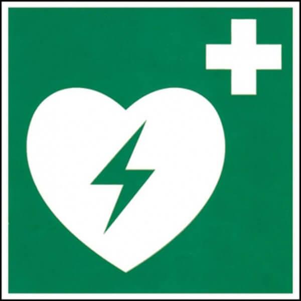 Hinweis-Schild Defibrillator / AED