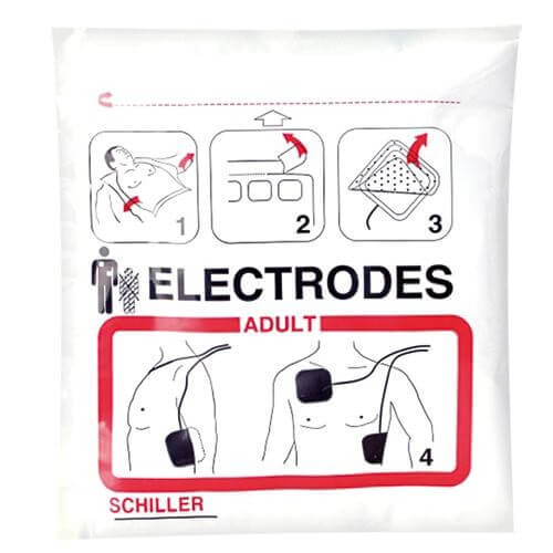 vorkonnektierte Elektroden zu FRED easy Defibrillator