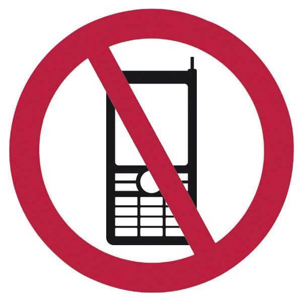 Hinweis-Schild Handyverbot