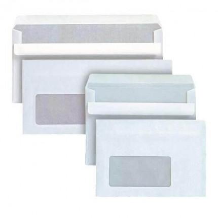 Enveloppes autocollantes avec fenêtre