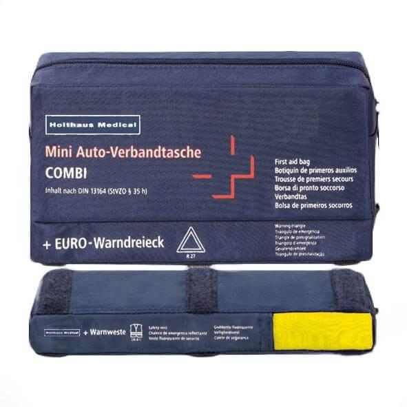 Verbandstasche DIN 13164 mit Warndreieck und -weste