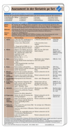 Assessment in der Geriatrie Pocketcard Set