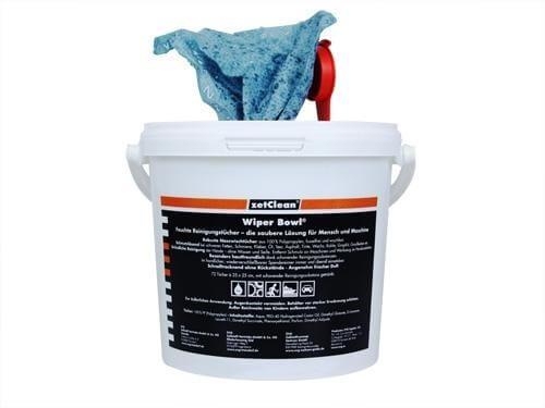 Wiper Bowl Polytex, 72 feuchte Reinigungstücher, Spendereimer