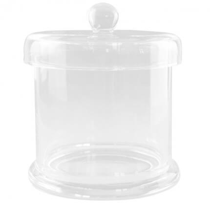 Cylindre en verre avec couvercle