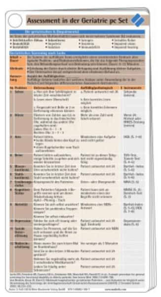 Assessment in der Geriatrie Pocketcard Set