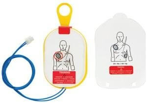 Trainings-Elektroden für Erwachsene zu HeartStart HS1, ohne Kassette