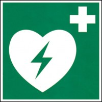 OTTO Office Hinweis-Schild Defibrillator / AED
