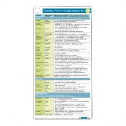 Anästhesie Intensivmeds pocketcard Set
