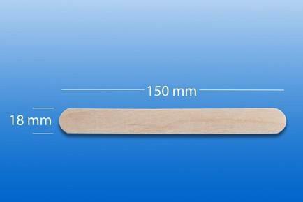 Holzmundspatel, steril