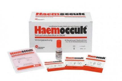 Test de dépistage du cancer Hemoccult